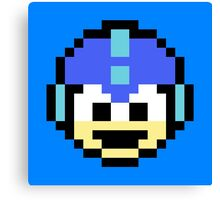 Megaman Head Canvas Print