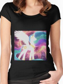 Celestia Oil Paint Women's Fitted Scoop T-Shirt