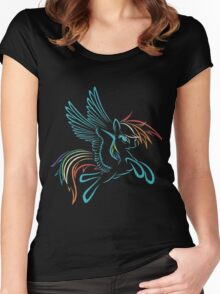 Rainbow Dash Abstract 3 Women's Fitted Scoop T-Shirt