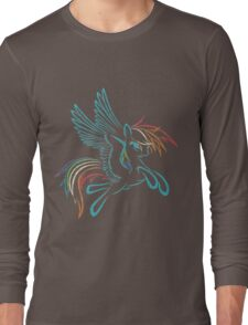 Rainbow Dash Abstract 3 Long Sleeve T-Shirt