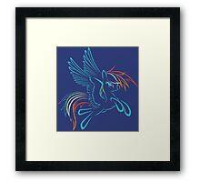 Rainbow Dash Abstract 3 Framed Print