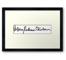 Hillary's Signature Framed Print