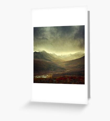 North Klondike River Valley after a storm Greeting Card