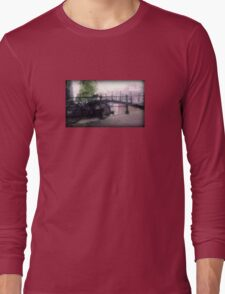 Amsterdam Bike on Bridge Long Sleeve T-Shirt