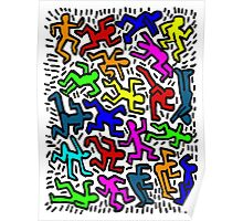 wall collour keith haring Poster
