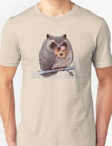 Owl and Mouse Unisex T-Shirt