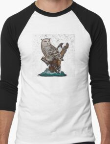 Owl In Night Men's Baseball ¾ T-Shirt