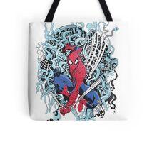 Illustrated Spiderman Tote Bag