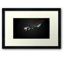 Rainbow Dash Abstract 4 Framed Print