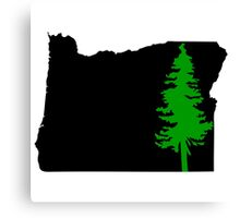 Oregon Green Tree Canvas Print