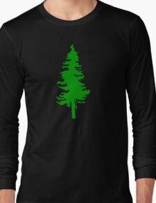 Plain Green Tree | Doug Fir/Pine/Evergreen Long Sleeve T-Shirt