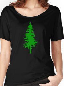 Plain Green Tree | Doug Fir/Pine/Evergreen Women's Relaxed Fit T-Shirt