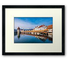 Bridge in Lucerne Framed Print