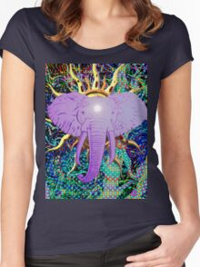 Third Eye Elephant Women's Fitted Scoop T-Shirt