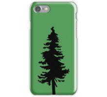 Plain Black Tree   Doug Fir/Pine/Evergreen iPhone Case/Skin