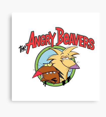 Angry Beavers Canvas Print