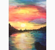 sunset on the lake Unisex T-Shirt