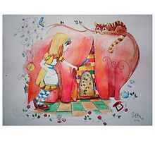 Alice in Worderland, opening the small door fanart Photographic Print