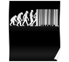 Evolution of Man Barcode Poster