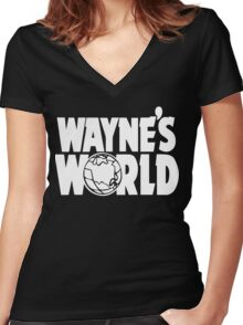 Wayne's World (HD vector graphic) Women's Fitted V-Neck T-Shirt