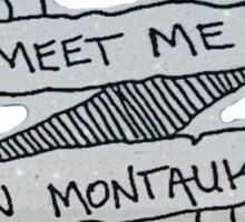 Meet Me In Montauk Sticker