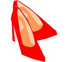 Red Dancing shoes (5742 Views) Photographic Print