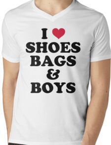 Shoes, Bags & Boys Funny Quote Mens V-Neck T-Shirt