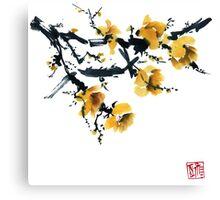 Yellow plum tree Canvas Print
