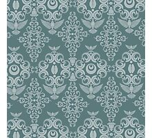 Damask in Teal Photographic Print