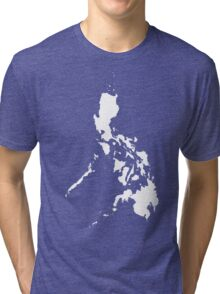 Philippines Islands Map by AiReal Apparel Tri-blend T-Shirt