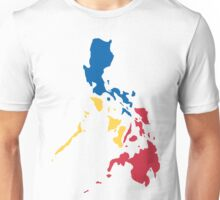 Philippines Filipino Map Sun and Stars Flag Unisex T-Shirt