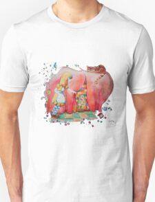 Alice in Worderland, opening the small door fanart Unisex T-Shirt