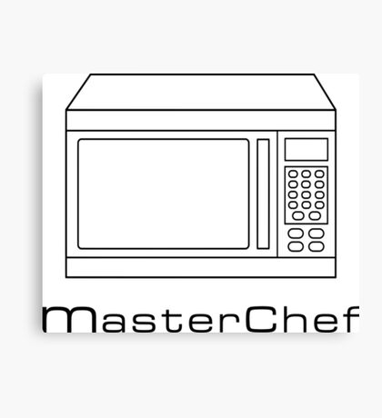Microwave MasterChef V1 Canvas Print