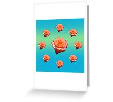 Orange Rose with Droplets Greeting Card