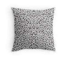Keith Wall White - Select Your Collour Throw Pillow