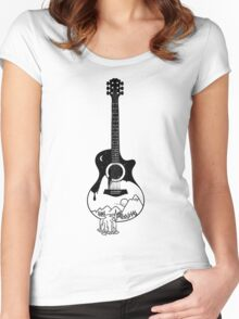 The intriguing sounds of nature Women's Fitted Scoop T-Shirt