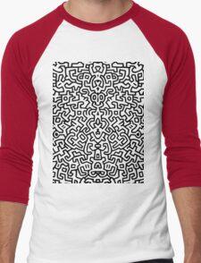 wall keith Black and select your colour Men's Baseball ¾ T-Shirt