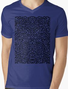wall keith Black and select your colour Mens V-Neck T-Shirt