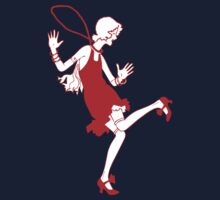 red flapper girl Kids Tee