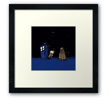 Tardis Doctor Who - Dalek Framed Print