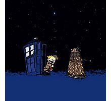 Tardis Doctor Who - Dalek Photographic Print