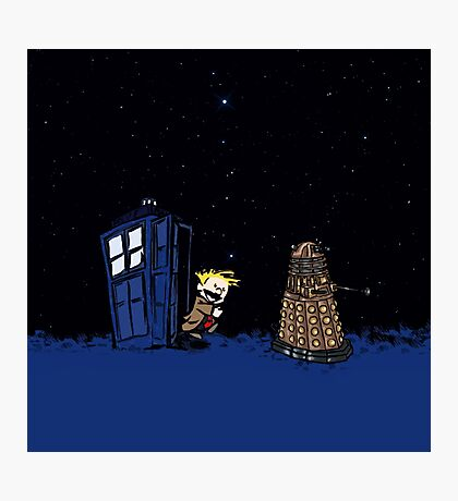 Tardis Doctor Who - Dalek Photographic Print