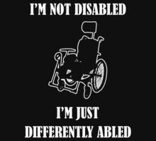 Differently Abled Does Not Equal Disabled Kids Tee
