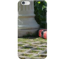 Ferric garden with columns and bed.  iPhone Case/Skin
