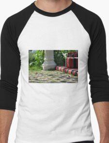 Ferric garden with columns and bed.  Men's Baseball ¾ T-Shirt