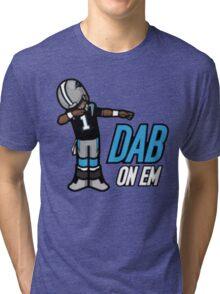 carolina panther dab on em Tri-blend T-Shirt