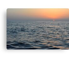The sunset at the sea. Canvas Print