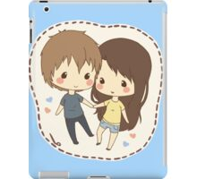 cute chibi couple  iPad Case/Skin