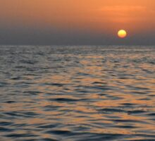 The sunset at the sea. Sticker