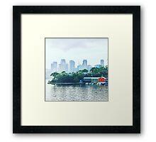 Sydney City from Balmain Framed Print